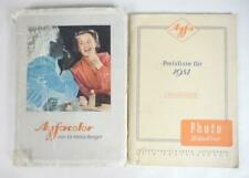 Agfacolor book by Heinz Berger + Afga 1951 Price List, in German