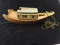 Antique Circa 1900 Folk Art  Wooden Boat