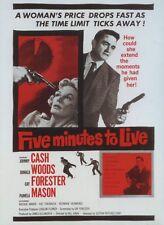 Five Minutes to Live aka Door-to-Door Maniac (1961) Johnny Cash Crime Drama DVD