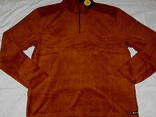 LIFE IS GOOD Mens L Large Pullover 1/4 Zip L/S Fleece Pullover Jacket Rust NWT