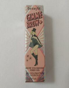 Benefit Gimme Brow + Brow Volumizing Fiber Gel #3 1.0g NIB