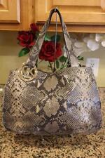 Michael Kors Fulton python Leather Large Shoulder Tote  bag purse (pu220