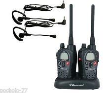 PAIR OF MIDLAND WALKIE G9 PLUS + CHARGER DOUBLE + HEADPHONES 30 KM REACH