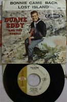 Rock Picture Sleeve 45 Duane Eddy - Bonnie Came Back / Lost Island On Jamie