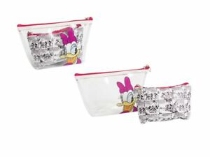Disney Daisy 2 bag bath travel pouch case set transparent & comics
