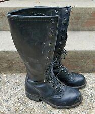 Men's Carolina Tall Logger Linesman Motorcycle Boots Black US Size 6 D Medium