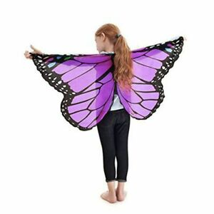 Unisex Butterfly Wings Scarf Fairy Tale Cape Princess Party Supply Wrap Cosplay