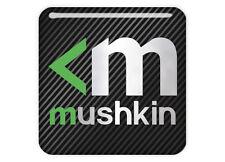 "Mushkin 1""x1"" Chrome Domed Case Badge / Sticker Logo"