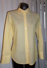 NWT Ladies J. Crew Yellow Stripe Kathryn Slim Fit Button front Blouse-size Small