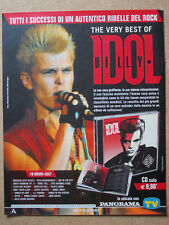 Pubblicità Advertising Werbung Italian Clipping BILLY IDOL The Very Best Of cd