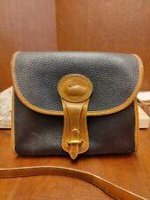 Vintage Dooney & Bourke Black/Tan All Weather Leather Bag