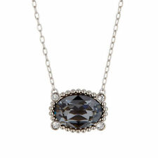 Rhodium Plated Crystal Oval Costume Necklaces & Pendants