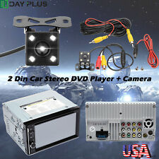 6.2 inch Car Camera Radio DVD / CD Player Rear View 2 DIN Stereo Touch Screen