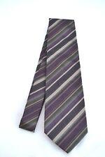 ETRO Designer SEIDEN Krawatte corbata TIE Tuch NEU 127€ brand NEW lila braun