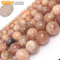 """Natural Sunstone Gemstone Round Beads For Jewellery Making 15"""" 6mm 8mm 10mm 12mm"""