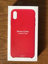 RED Genuine Apple iPhone Original XS Max Leather Protective Case Cover