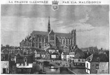 SOMME. Amiens 1883 old antique vintage print picture