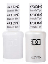 DND Daisy Duo Gel W/ matching nail polish lacquer - FRENCH TIPS (WHITE) - 473