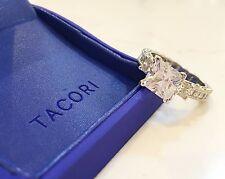 Tacori Platinum 2.25ctw Classic Crescent Princess Three Stone Ring $13,280 MSRP