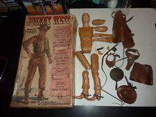 Vintage Marx Johnny West Cowboy Action Figure W/Original Box and ACCESSORIES Gun