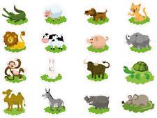 1 x Aufkleber Zoo Tiere Set Sticker Löwe Affe Esel Kinderaufkleber Geschenk Fun