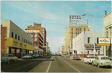 1st Avenue Looking West From Post Office in Billings MT Postcard 1967