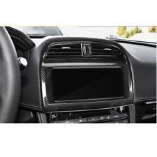 Carbon Fiber Print Air Outlet Stereo Cover Trim fit For Jaguar F-pace 2016-2018