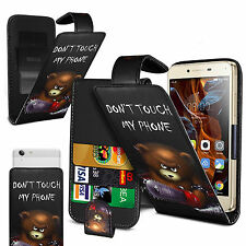 For HTC Sensation XE - (Bear) Clip On PU Leather Flip Case Cover
