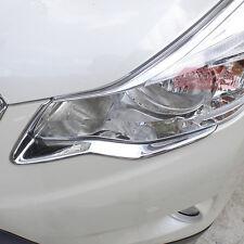 New ABS Chrome Front Light Trim Eyelid For Subaru XV Crosstrek 2013 2014 2015 16