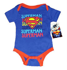 SUPERMAN BABY CREEPER ~SIZE 0/3 MONTHS~SUPERMAN, SUPERMAN, SUPERMAN~BLUE AND RED