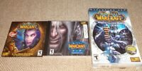 3 World Of WarCraft Wrath Of The Lich King, Trial Edition Expansion Set read