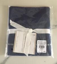 Pottery Barn Linen Hemstitch Tissue Box Cover Navy Blue Nwt