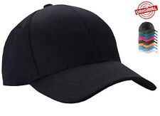 Mens Classic Plain Adjustable Baseball Caps By MIG - WORK CASUAL SPORTS LEISURE