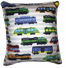 Trains Pillow Handmade In USA Classic Train Designs HO Lionel Trains Pillow Type