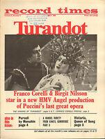 RECORD TIMES NEWSPAPER 1966 05 MAY turandot correlli birgit nilsson/menuhin/etc