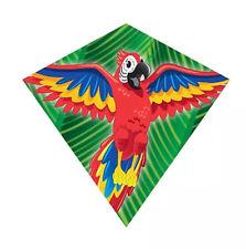 Windnsun 18'' Mini Diamond Nylon Kite w/Skytails-Handle & Line Included- (Macaw)