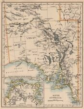 SOUTH AUSTRALIA.Explorers routes Sturt Giles Elder Forrest Tictkins 1897 map