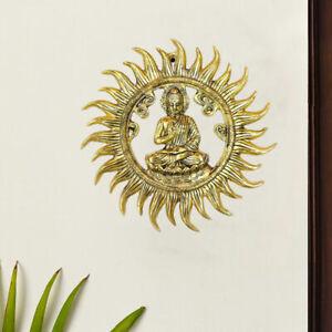 Home & Office Handmade Decor, Metal Wall Hanging Sun Face Idol for Positivity AU