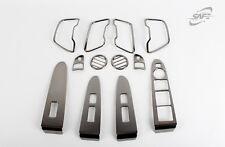 Para Kia Sportage 2010 - 2014 Negro Moldura Interior Estilo Cromo unidad de mano izquierda