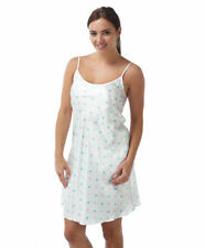 Knee Length Viscose Chemises Spotted Nightwear for Women