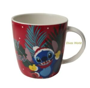 Disney Lilo & Stitch Christmas Mug Merry Stitchmas Tea Coffee Cup Xmas Gift New