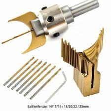 Carbide Ball Blade Woodworking Milling Cutter Molding Tool Beads Bit Drills Kit