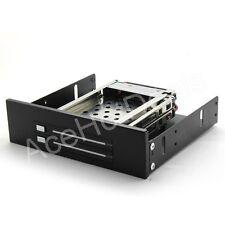 """2.5"""" Hard Disk 2-Bay SATA Internal Hot swap Enclosure 5.25 Inch Drive Bay"""