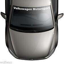 VW Golf 7 VII Volkswagen Motorsport Frontscheiben Aufkleber Farbfolie
