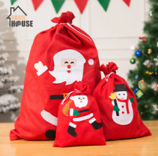New Christmas Candy Storage Bag Gift Santa Claus Bunch Bag New Year Present Kid