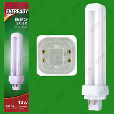 4x 13W G24q-1, 4 pin, Low Energy CFL BLD Double Turn Light Bulb Cool White Lamp