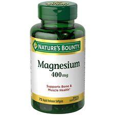 Nature's Bounty Magnesium 400 mg Softgel 75 ea (Pack of 5)