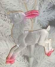Jumping Goat youngster Antique Christmas Decoration Dresden Cardboard Vintage