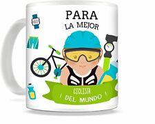 Taza de Desayuno ciclismo mejor ciclista (ella), regalo ciclista, taza ciclista