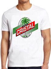Cerzeva T Shirt 598 Cuba Cristal Beer Logo Retro Vintage Gift Tee